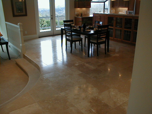 Tile floor photos for Dining room tile floor designs